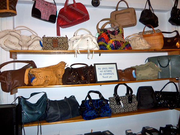 Revente handbag wall, South Carolina